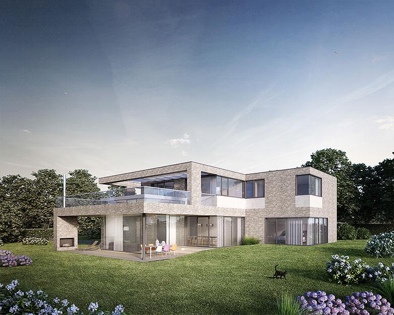 Klaus lehnhardt visualisierung illustration animation for Villa wedel
